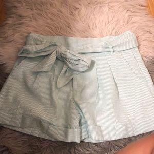 lauren james seersucker bow shorts